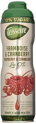 Teisseire Himmbeer/Cranberry Sirup ohne Zucker mit Stevia-Rezeptur, 6er Pack (6 x 600 ml)