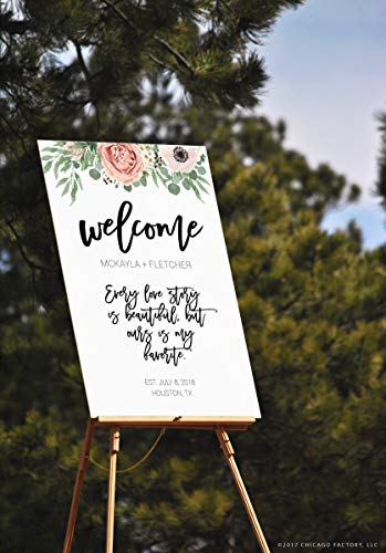 CELYCASY Aanpasbare Bruiloft Teken Sjabloon, Printable Wedding Sign, PDF Wedding Signs, Directe Download, Digitale Wedding Signs, Ceremony Sign (D013)
