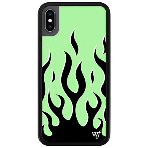 Wildflower Limited Edition Cases Compatible with iPhone X and XS (Neon Flames)