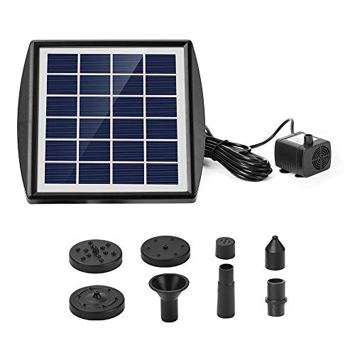 Ankway Solar Water Pump for Fountains 2.0W Upgrade Solar Pump Kit for Pond Bird Bath Pool Koi Goldfish Pond Patio Garden