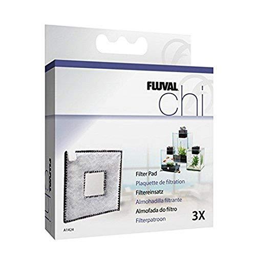 Fluval Carga de Carbon Chi II, 3 Unidades