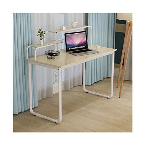 NBVCX Decoración de Muebles para el hogar Escritorio para el hogar Escritorio de Estudio para Estudiantes Escritorio Creativo Simple Oficina pequeña Mesa (Color: Blanco)