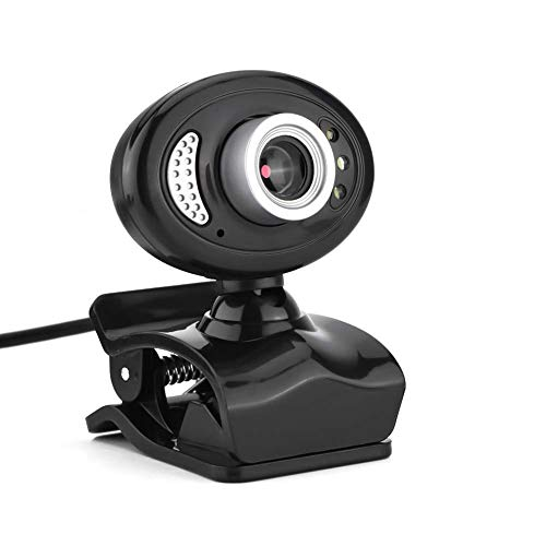 PC Webcam,High Definition USB2.0 Clip-on Web Camera 360° Rotating Stand Webcam Built-in Microphone Windows 2000/ XP/Windows 7/Windows 8/Windows 10 in/Vista 32-bit