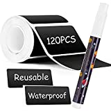 Chalkboard Labels ,Waterproof Reusable Blackboard Sticker with 1Free Erasable Chalk Markers for Storage Bins, Glass Jars, Canisters, Bottles,Crafts, Baskets,and Organize Your Home & Kitchen