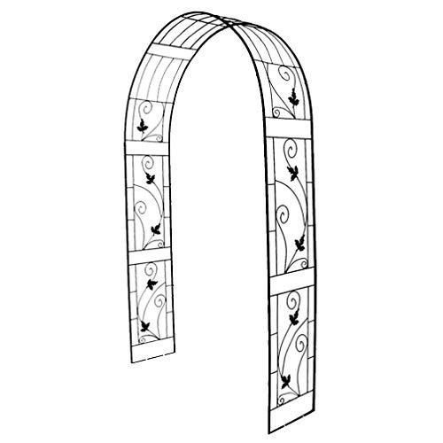 LXLH Arcos de jardín, Arco de jardín de Hierro Forjado, fácil de Montar, Arco de Boda, Marco de Escalada Utilizado para Plantas trepadoras, Rosas, Patio de jardinería, Negro