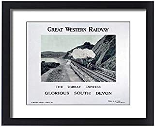 Media Storehouse Framed 20x16 Print of The Torbay Express, GWR Poster, c 1920s (10014560)