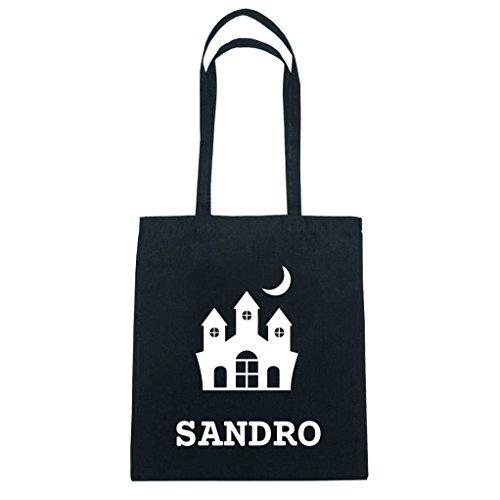 JOllify katoenen tas Halloween voor SANDRO BHH5901 Burg-slot