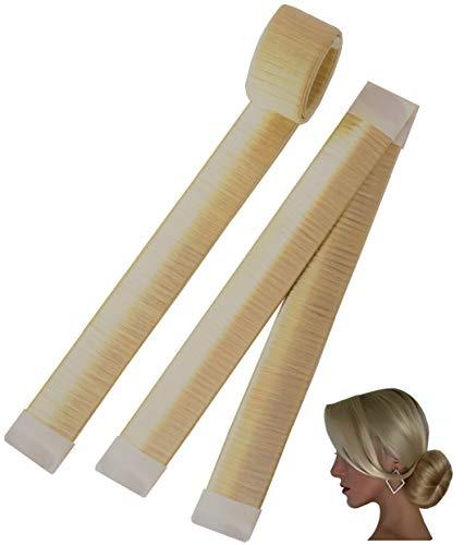 AA Perfect Pack de 2 Hair Bun Maker para pelo largo ✔ Magic Twist Donut cinta francesa para mujeres y niñas ✔ Herramientas de peinado DYI de moño ayuda para el peinado perfecto