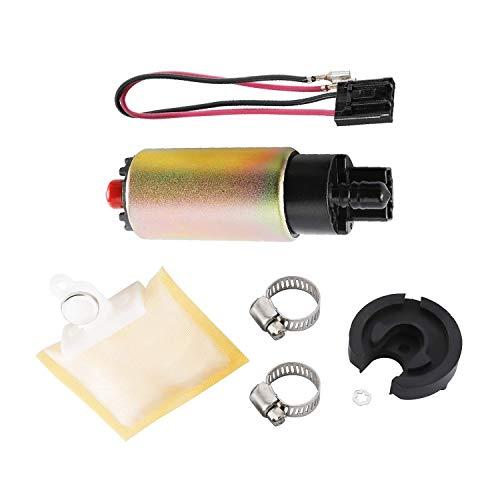 NovelBee Bomba de combustible eléctrica universal con junta de goma, abrazaderas de acero inoxidable y arnés de cableado del conector para vehículos Kits de instalación de...