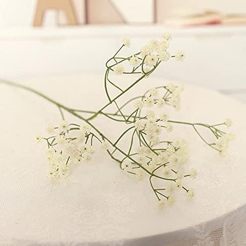 Sonze 8PCS Flor de simulación de trime de día Completo, Ramo de decoración del hogar, Blanco,Flores Artificiales Decoracion jarrones,Resistentes a los Rayos Ultravioleta