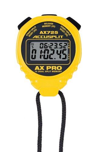 ACCUSPLIT AX725 PRO MEMORY (16) Dual Line Stopwatch (Yellow)