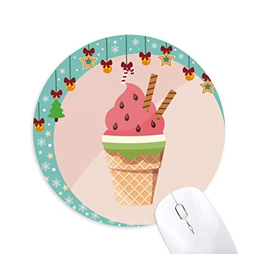 Kekse Wassermelone Cones Ice Cream Mouse Pad Jingling Bell Round Rubber Mat