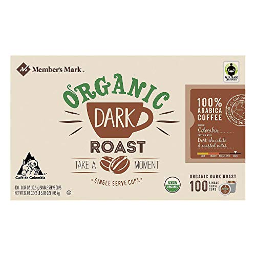 Member's Mark Organic Dark Roast Coffee (100 single-serve cups) ES