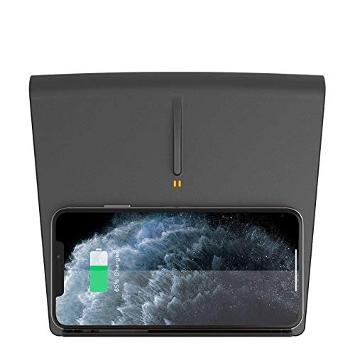TAPTES Tesla Model 3 Wireless Charger [2020 Version], Wireless Phone Charging Pad M3 Accessories Tesla Gift for iPhone 12Pro/12/11 Samsung Enabled Phones-Compatible All Tesla Model 3(Before Jun 2020)