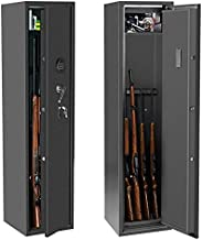 4 Rifle Safes Large Rifles Gun Safes for Rifles and Shotguns, Rifle Gun Cabinet with Digital Lock for Home , Long Gun safe for Rifles and Pistols Quick Access with Removable Shelf