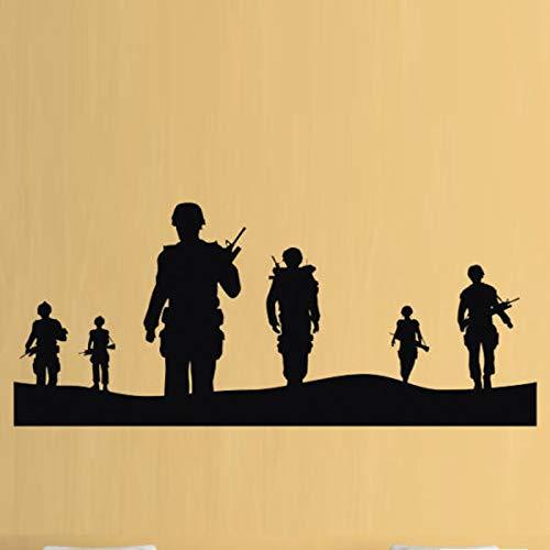 jiushivr Soldados del ejército Black Ops Boys Pegatinas de Pared para Sala de Estar Decoración para el hogar Calcomanías de Vinilo Cuarto de niños Habitación de niños Mural de Arte 102X42cm