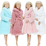 4 PCS Abrigo de piel suave de manga larga multicolor para 11.5 pulgadas Traje de franela Tops...