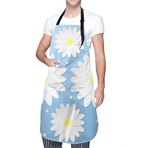 Paper Craft 3d Flowers Nahtloses Muster Unisex Modern Fashion Wasserdichtes Oxford-Tuch Verstellbare Kochschürze Einfach zu verwendender Küchenchef Kittel Backen Garten Nagel Lätzchen Männer und Fraue
