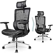 Ergonomic Office Chair, mfavour Office Chair Mesh, with 3D Armrest/Lumbar Support/Adjustable Headrest, Home Ergonomic Chair Breathable Mesh Seat for Study, Work and Gaming