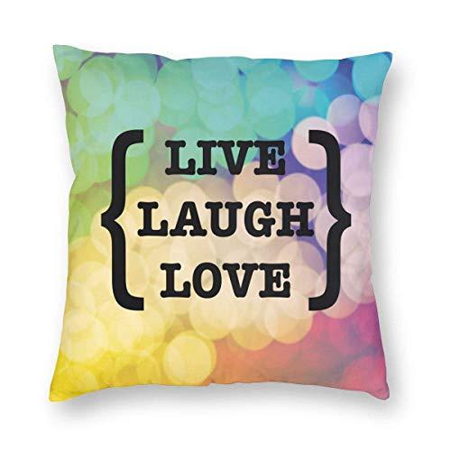 Fundas de almohada inspiradoras con frase sabia entre paréntesis, colorido fuera de enfoque, funda de cojín decorativa para decoración del hogar, sofá, almohada decorativa de 55,88 x 55,88 cm