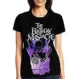 Photo de The Birthday Massacre Women T-Shirt Col Rond Manches Courtes Basic Summer Tee Tops