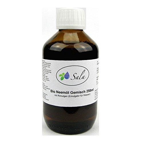 Preisvergleich Produktbild Sala Neemöl kaltgepresst Bio mit Rimulgan Emulagtor 250 ml Glasflasche