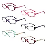 IVNUOYI 6 Pack Reading Glasses Blue...