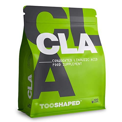 CLA 1000 mg Kapseln – CLA 3000 mg konjugierte Linolsäure - deutsche Qualität - hochdosiert & reich an Omega-6 Fettsäuren - 100 Kapseln - von TOOSHAPED