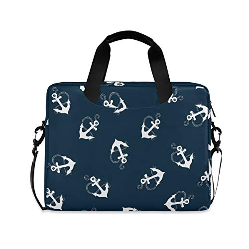 PUXUQU Laptop Bag Tropical Beach Nautical Sea Anchor Laptop Case for 14-15.6 Inch Computer and Tablet Shoulder Bag Carrying Case for Work Office School