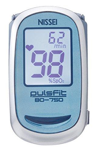 日本精密測器(NISSEI) 指先クリップ型パルスオキシメータ pulsfit BO-750 ブルー