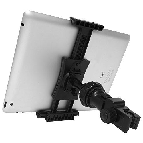 Macally Handy oder Tablet Mikrofon Halterung für Musik steht & Boom Polen bis 1,9cm Bar Durchmesser   360° drehbar Wiege Apple iPad Pro/Air/Mini, Samsung Tab, iPhone, Google Pixel