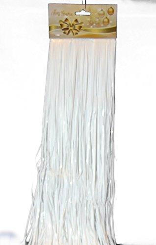 Weißes Lametta 50 cm Neu