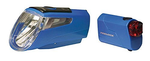 Trelock LI-ION Set 460 I-GO Power LS 720 Led-Batterie-leuchten, blau, 10 x 5 x 3 cm