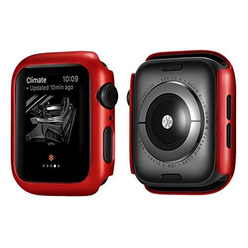Flyuzi Funda Protectora de Marco de PC de Lujo para Apple Watch Series 5 Series 4 Cubierta de Cubierta para iWatch 40mm 44mm Parachoques (Color : Red, Dial Diameter : 40mm Series 4 5)