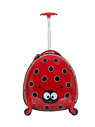Rockland Jr. Kids' My First Hardside Spinner Luggage, Ladybug, Carry-On 19-Inch