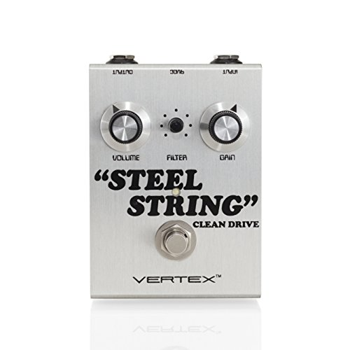 Vertex Effects Steel String Clean Drive Guitar Effects Pedal, Guitar and Bass Pedal, Recreates the Tonality of the Dumble Steel String Singer Amplifier, 4.6