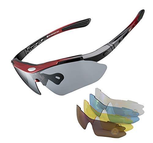 ROCKBROS Gafas de Sol Polarizadas con 5 Lentes Intercambiabl
