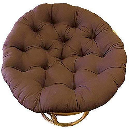 Bomullsstol kudde gunga ägg själsande tjock stolkudde bekväm mjuk ersättningskudde utan stol-105 x 105 cm brun