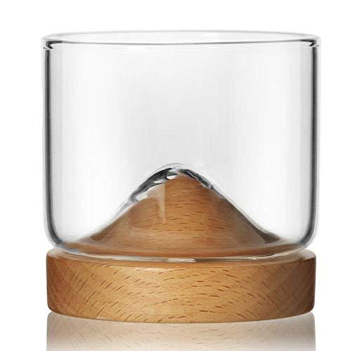 Vidrio Copa De Vino Galss Copa De Whisky Montaña Fondo De Madera Vino Copa De Vidrio Transparente Para Cerveza Vino De Whisky Vodka Bar Club Ktv, Fagus Sylvatica, 120 Ml