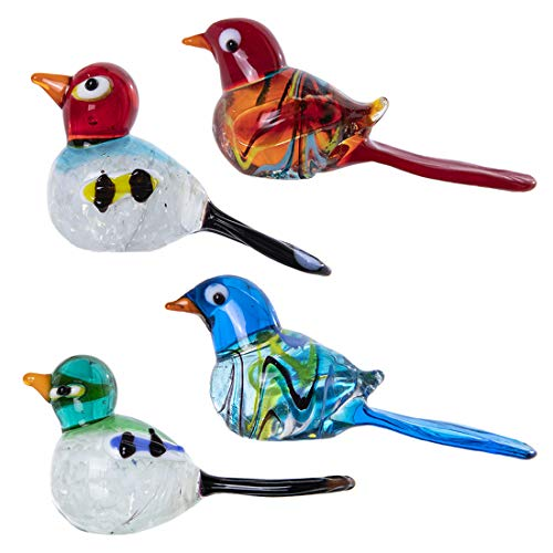crystalsuncatcher - 4 Game Crystal Figures of birds for home decoration