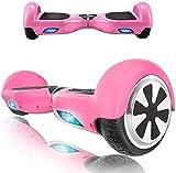 HappyBoard Hoverboard - 6.5' - Bluetooth - Motor 700 W - Velocidad 15 km/h - LED - Patinete Eléctrico Auto-Equilibrio - para niños y Adultos - Rosa