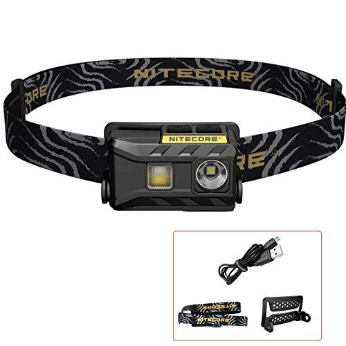 NITECORE NU25 - Linterna Frontal LED Recargable - USB Triple Salida Luz Blanco/ Rojo/CRI - Lámpara de Cabeza Muy Ligera IP66 [ Acampar Correr Pesca Bicicleta ]