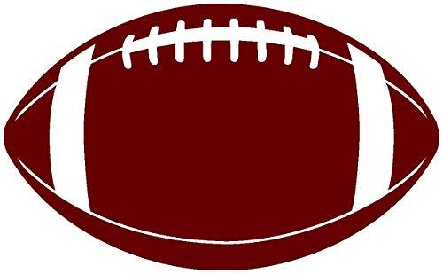 Samunshi® Autoaufkleber Football Aufkleber in 8 Größen und 25 Farben (8x4,8cm burgundy)