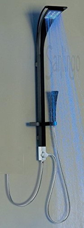 Aluminium LED Duschpaneel Duschsule Schwarz Sanlingo