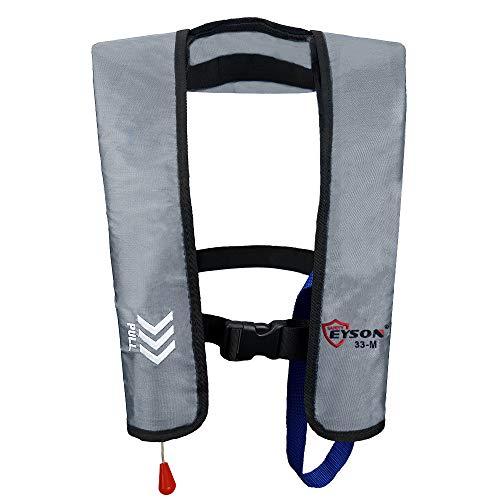 Eyson Basic Inflatable Life Jacket Life Vest Manual for Adults (Grey)