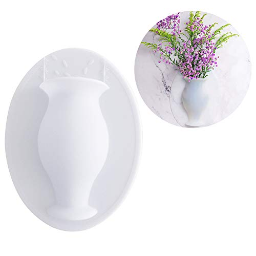 FGASAD Silikon-Fllower Vase, Moderne hängende Pflanztöpfe, klebrige Vase auf Anti-Gravity Wand Blumenbehälter für Zuhause und Büro, wiederverwendbarer Blumentopf, Numasanltd