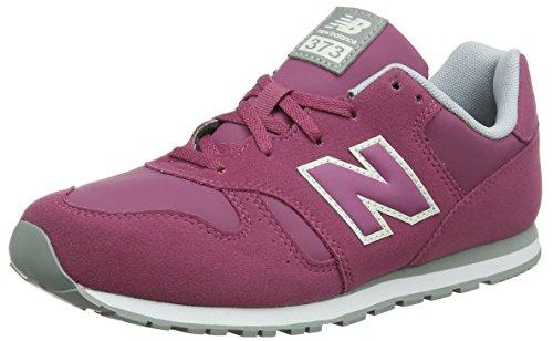 New Balance 373, Sneaker Unisex-Bambini, Rosa (Dark Pink/Grey PF), 36 EU