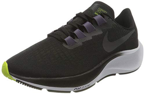 Nike Wmns Air Zoom Pegasus 37, Scarpe da Corsa Donna, Black/Anthracite-Dk Raisin-White-Cyber, 39 EU