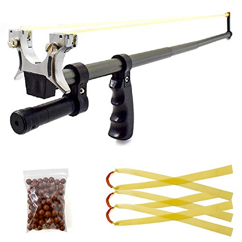 Piaoyu Telescopic Slingshot, with High-Power Rubber Band and 100g Mud Pill, Stainless Steel Outdoor Hunting Catapult Equipment