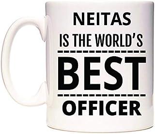 NEITAS Is The World's BEST Officer Taza por WeDoMugs®